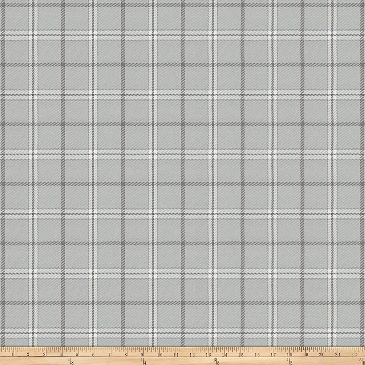 Image of Fabricut Rudder Plaid Steel