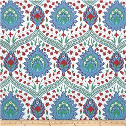 Snow Leopard Designs Iznik Home Decor Sateen Konya Blue