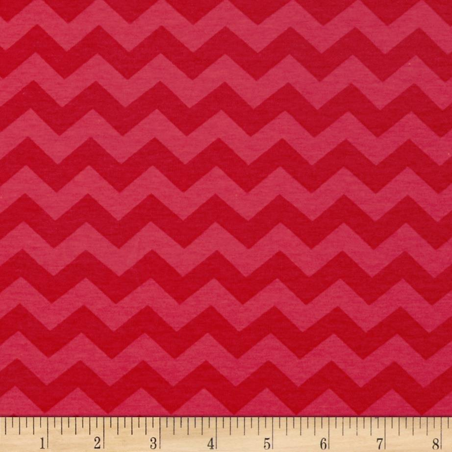 Riley Blake Cotton Jersey Knit Small Chevron Tone on Tone Red