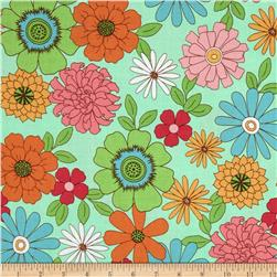 Riley Blake Flower Patch Main Mint