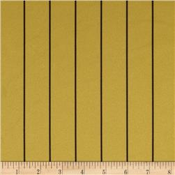 Baseball Pique Double Knit Stripes Gold/Black Fabric
