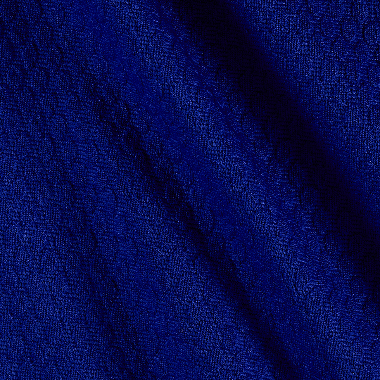 Honeycomb Double Knit Spectrum Blue Fabric by Neiman in USA