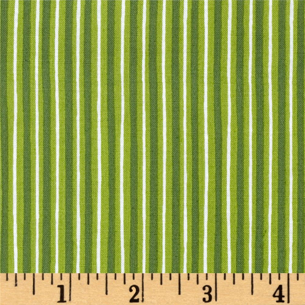 Maywood Studio Kimberbell Basics Little Stripe Green