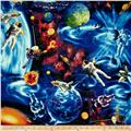 Timeless Treasures Space & Astronauts Blue/Multi