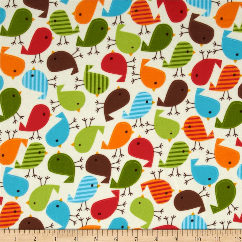 Kaufman Urban Zoologie Flannel Birds Wild Fabric
