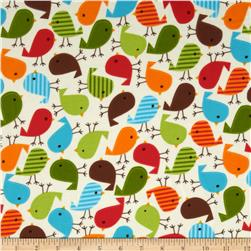 Robert Kaufman Urban Zoologie Flannel Birds Wild