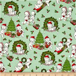 Riley Blake Kewpie Christmas Main Green