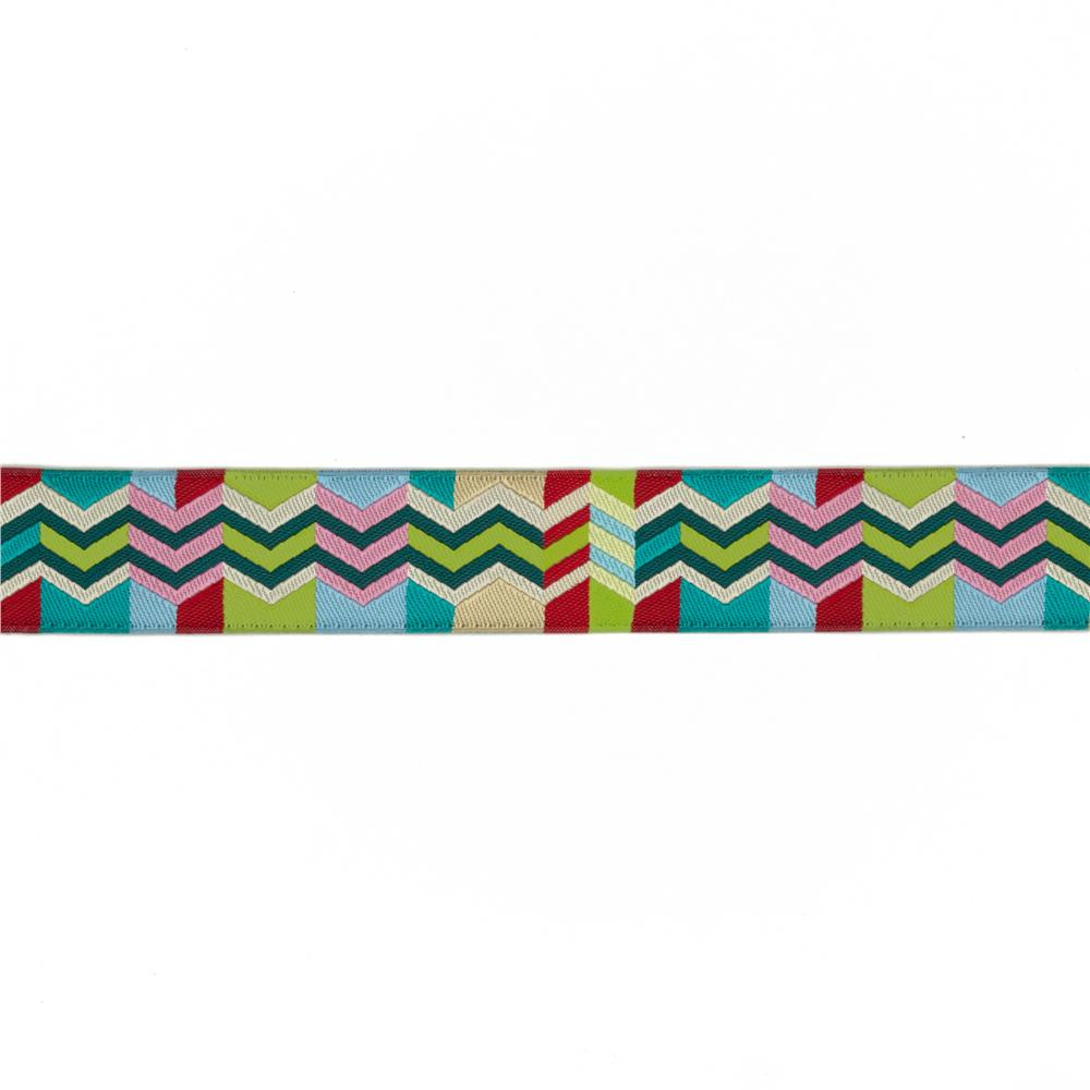 7/8'' Anna Maria Horner Ribbon Zag Zig Lime/Red
