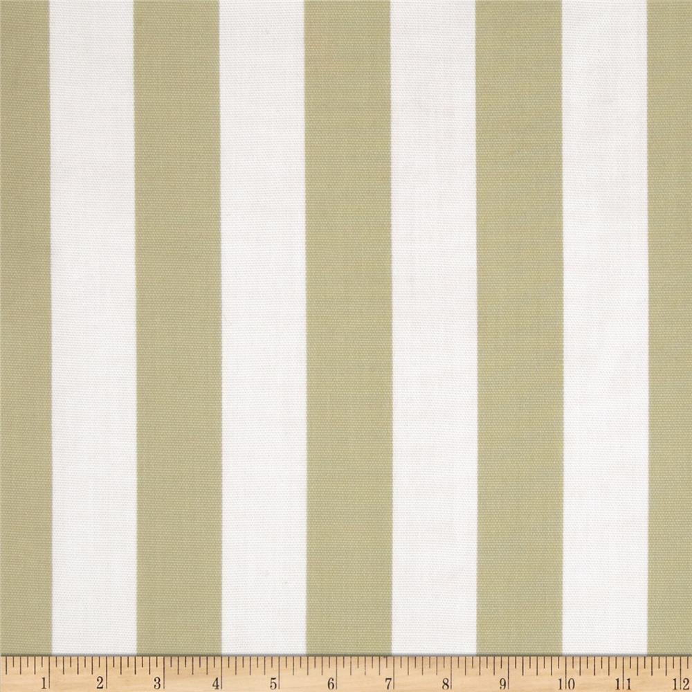 Premier Prints Indoor/Outdoor Canopy Stripe Khaki/White