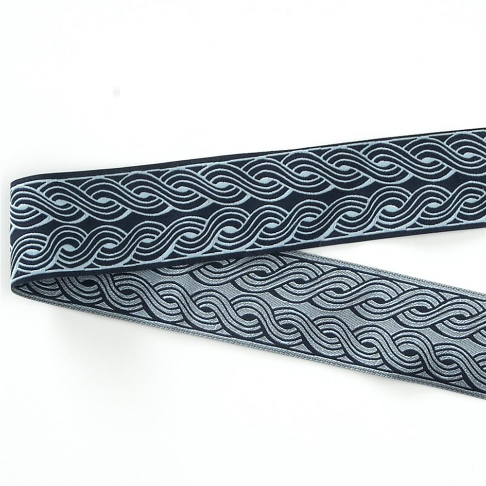 "1 1/2"" Parson Gray Blue Wales Ribbon"