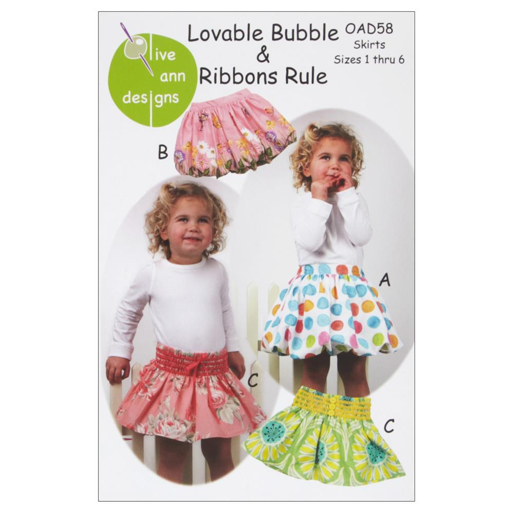 Olive Ann Designs Loveable Bubble & Ribbons Rule