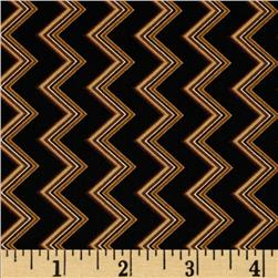 Chevron Chic Spaced Chevron Black/Amber