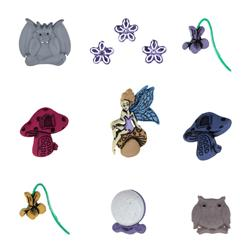 Dress It Up Embellishment Buttons  Fairies