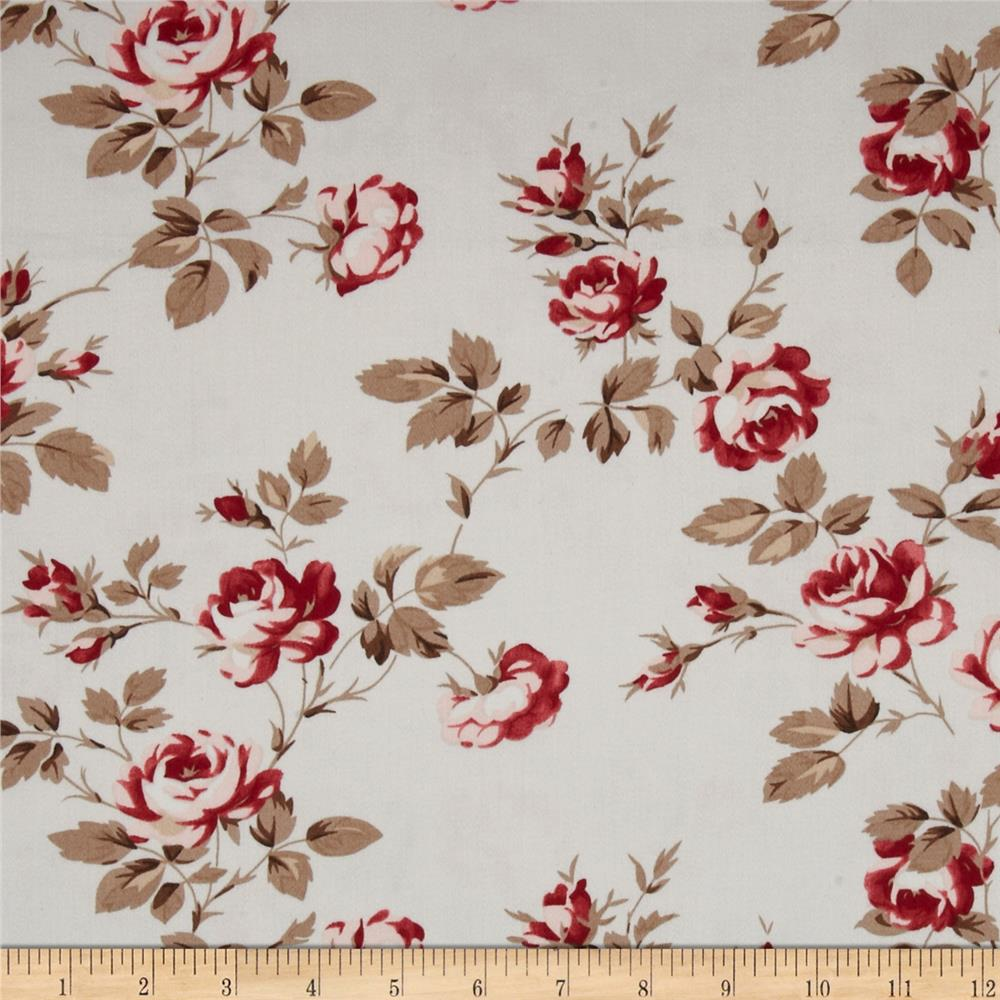 Tanya Whelan Petal Home Decor Sateen Scattered Roses Fog
