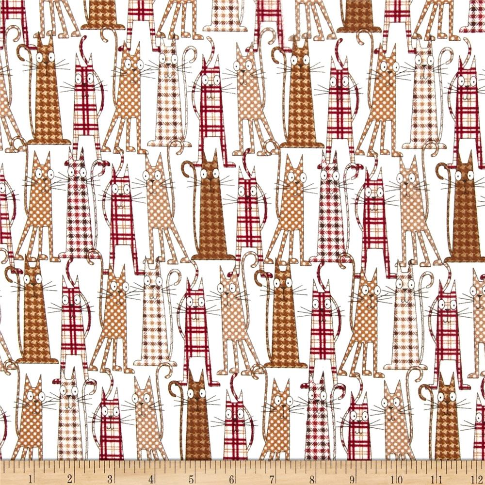 Timeless Treasures Cats Flannel