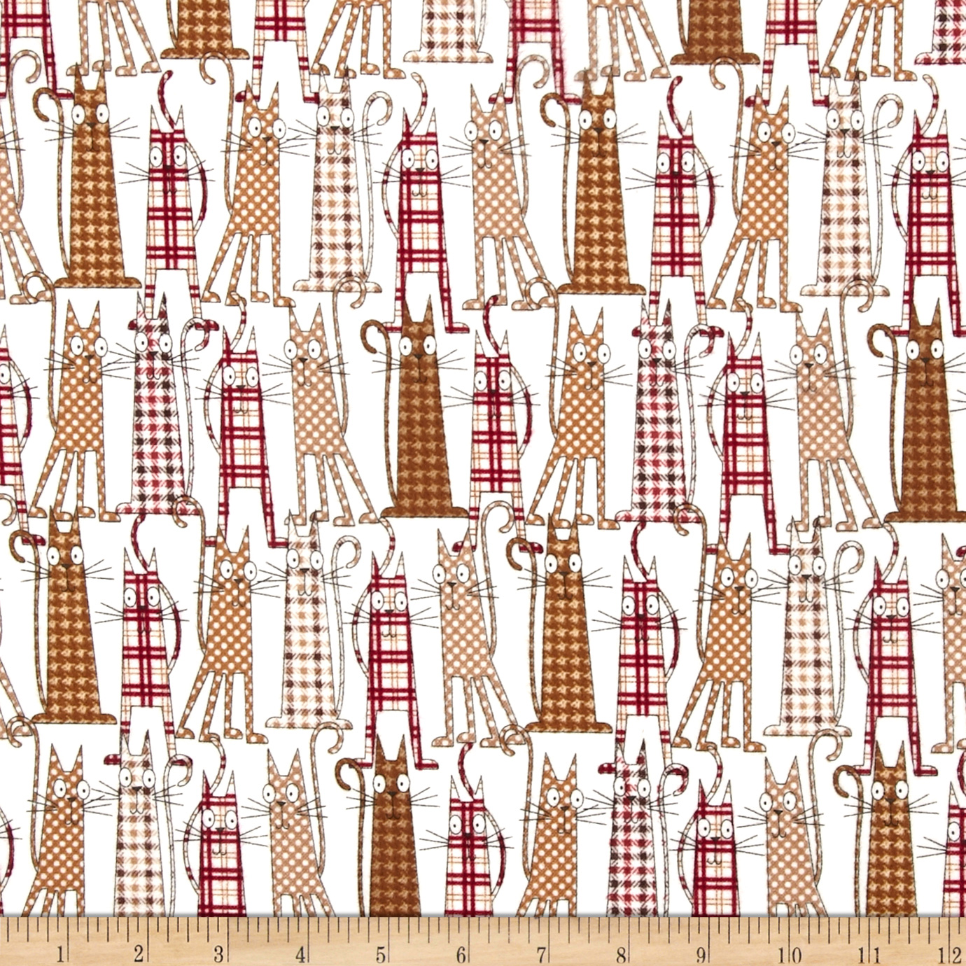 Timeless Treasures Cats Flannel Fabric