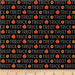 Riley Blake Ghouls & Goodies Trick or Treat Black
