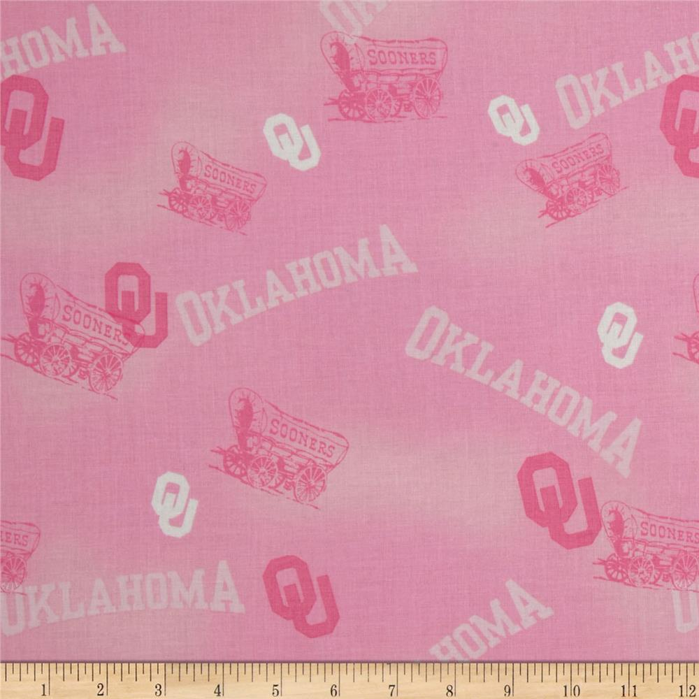 Collegiate Cotton Broadcloth Oklahoma Pink