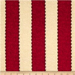 Schoolhouse Fancies Bold Stripe Cream/Red Fabric