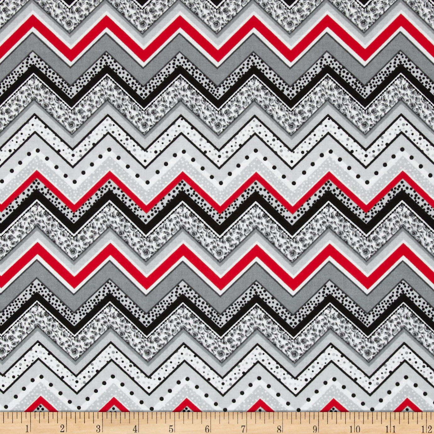Patterned Chevron Grey Fabric