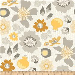 Riley Blake Lost and Found 2 Home Decor Floral Grey