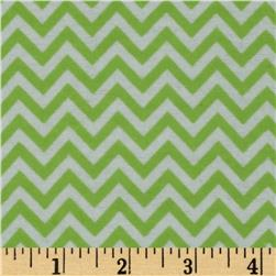 Dreamland Flannel Chic Chevron Green Apple Fabric