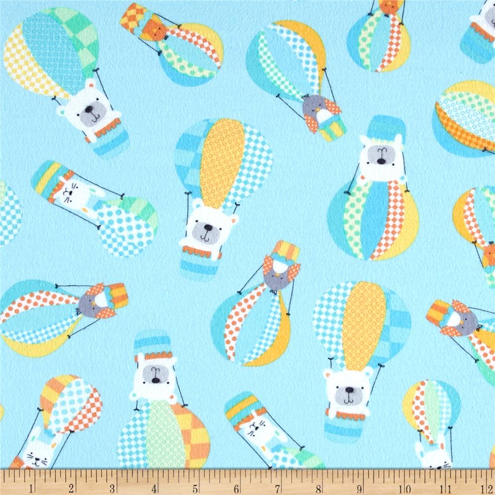 Kanvas breezy baby flannel up up away aqua discount for Cheap baby fabric