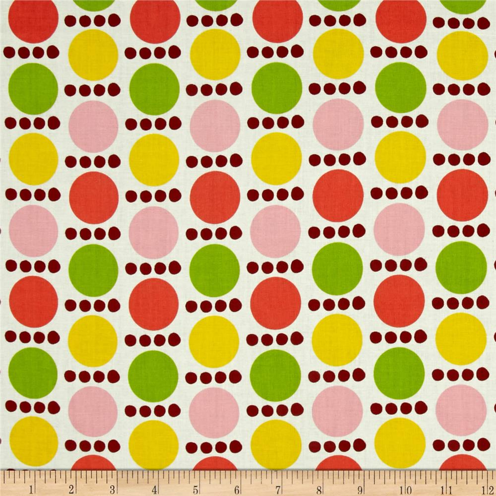 Palm Springs Spots & Dots Orange/Yellow/Pink