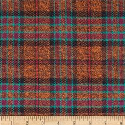 6 oz. Flannel Plaid Brown/Orange/Green