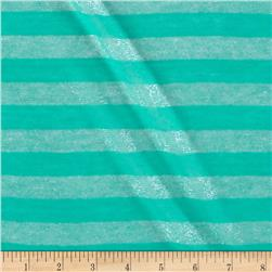 Sparkle Stripe Tissue Hatchi Knit Seafoam