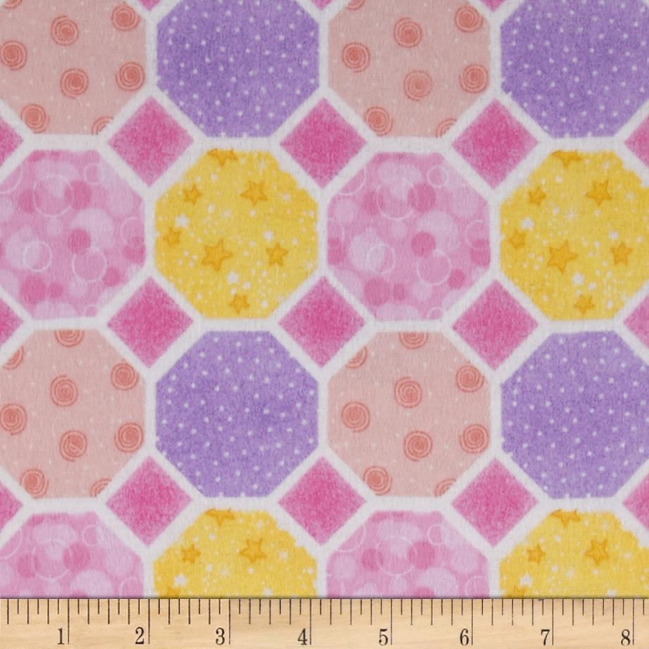Flannel Hexigons Pink