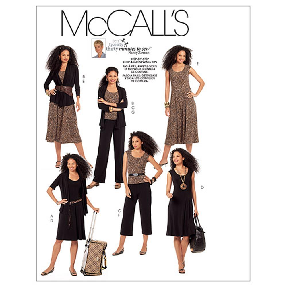 McCall's Misses' Jackets, Top, Dresses and Pants In