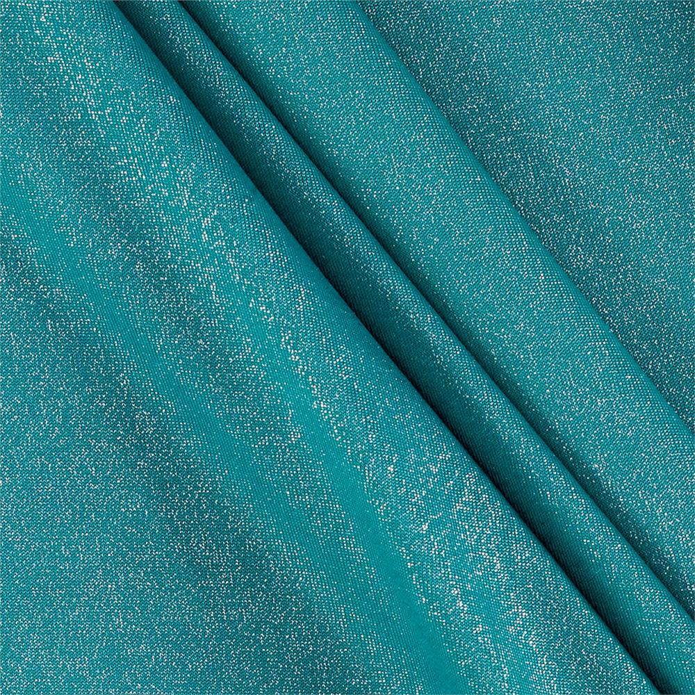 Sparkle ity jersey knit turquoise silver discount for Sparkly fabric