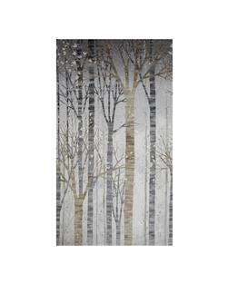 Kaufman Sounds of the Woods Metallic Scenic Stripe Ice