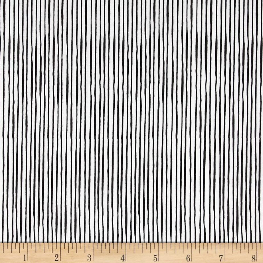 Loralie Sew Creative Quirky Pinstripe White/Black