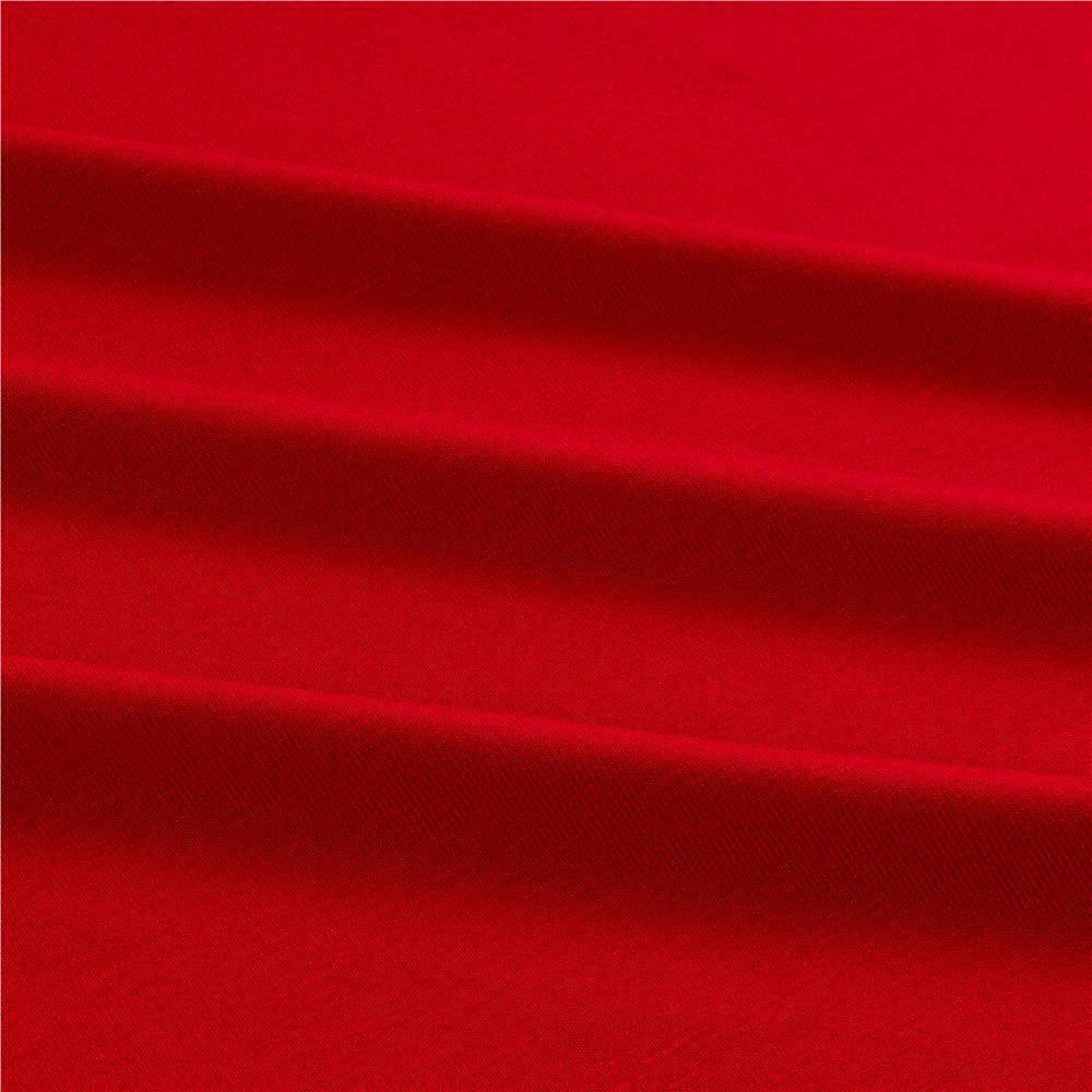 Telio stretch bamboo rayon jersey knit bright red hot for Fabric cloth material