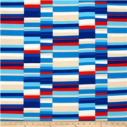 Kaufman Geo Pop Canvas Home Decor Hash Stripe Bright