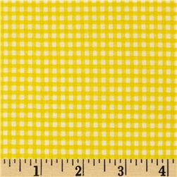 Basic Training Small Gingham Yellow/White