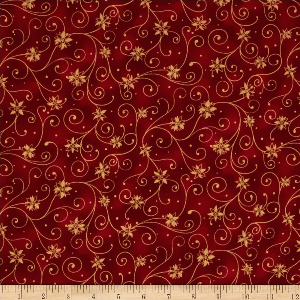 Holiday Accents Classics 2013 Metallic Swirl Red
