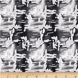 Bloom Stretch Cotton Sateen Abstract Black/Light Grey/Cream