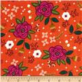Enchanted Floral Double Gauze Red-Orange