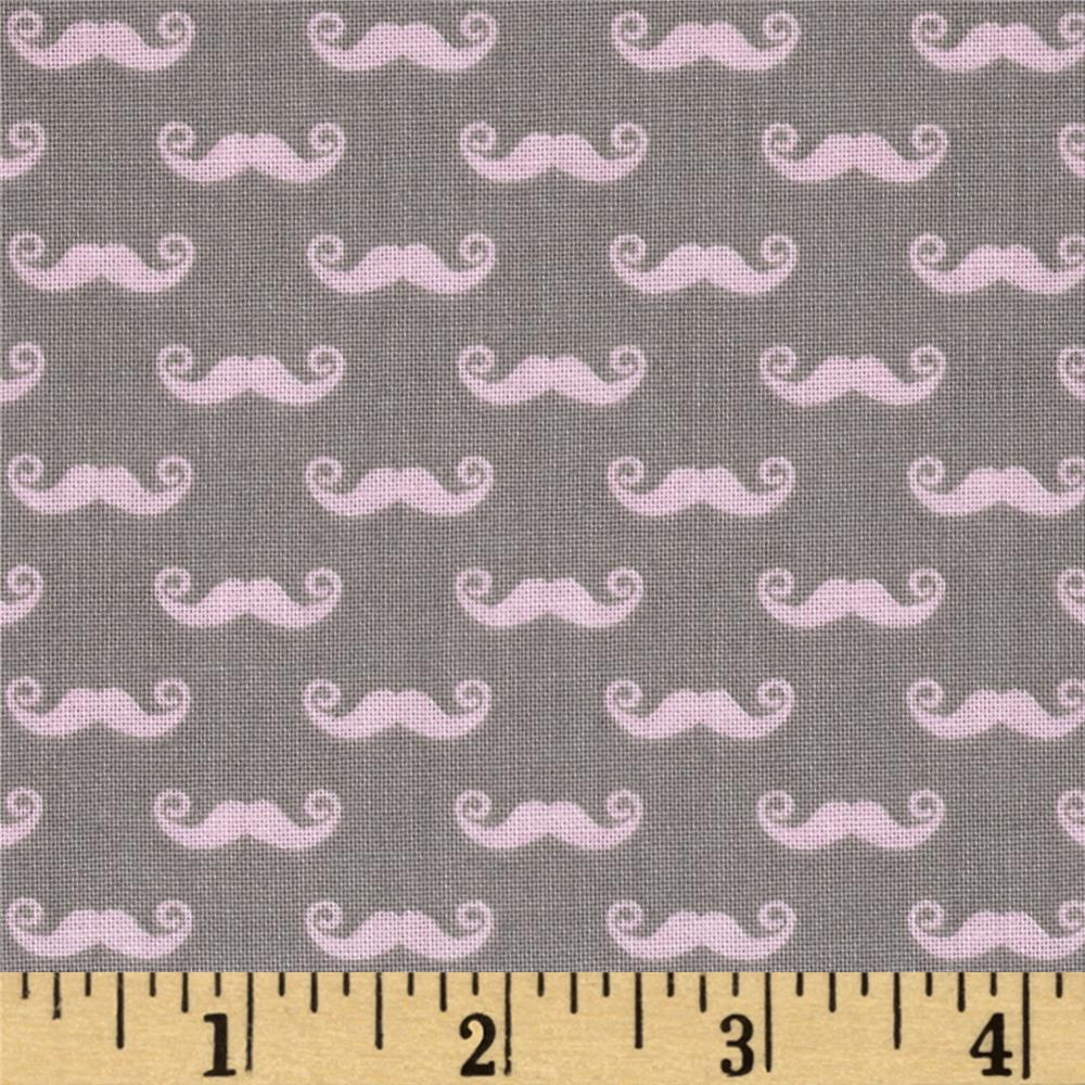 Riley Blake Pepe in Paris Geekly Small Mustache Grey