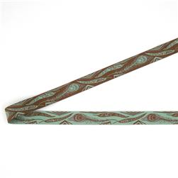 7/8'' Anna Maria Horner Feathers Ribbon Aqua/Brown