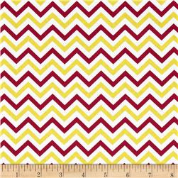 Ups & Downs Chevron Red/Yellow Fabric