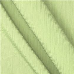 Lyric Wide Crinkle Polyester Shirting Green Tea