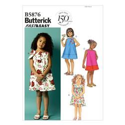 Butterick Toddlers'/Children's Dress Pattern B5876 Size CCB