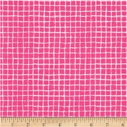 Michael Miller Tweet Me Pretty Grid Pink