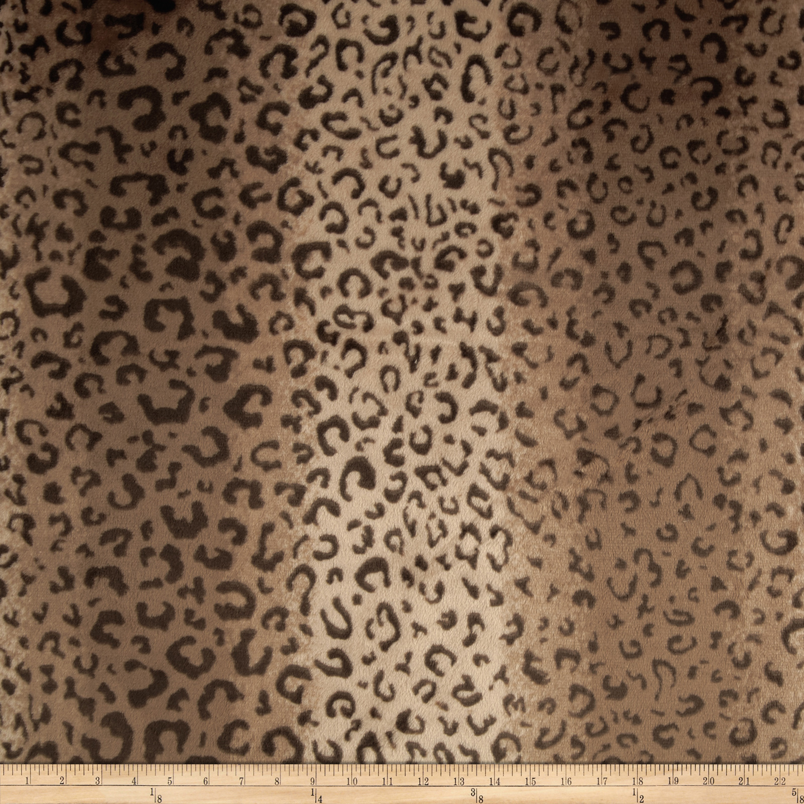 Minky Cuddle Spa Cheetah Print Brown/Tan Fabric