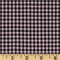 Woven 1/8'' Cotton Gingham Pink/Black