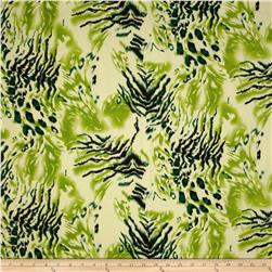 Jungle Safari Broadcloth Tiger Green/Black